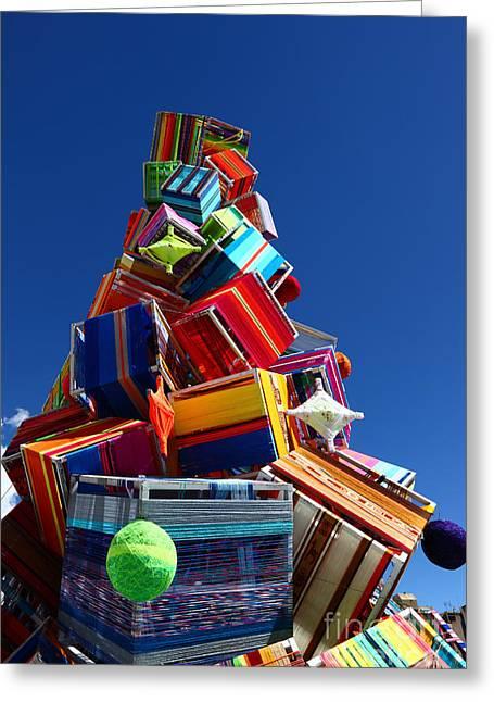 Textile Christmas Tree Greeting Card