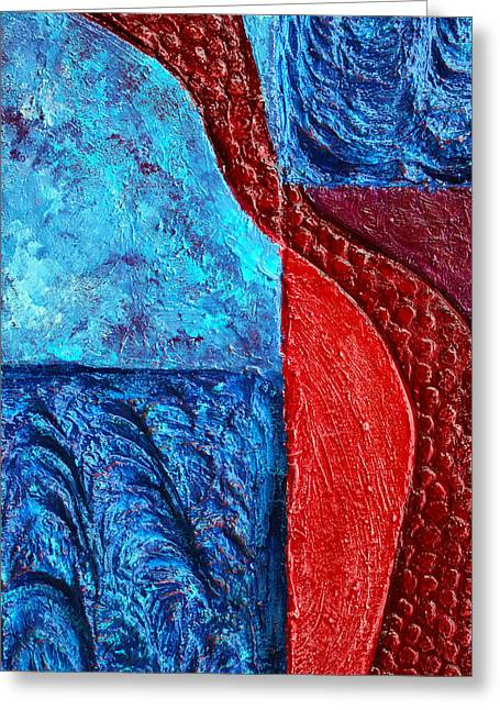 Texture And Color Bas-relief Sculpture #4 Greeting Card