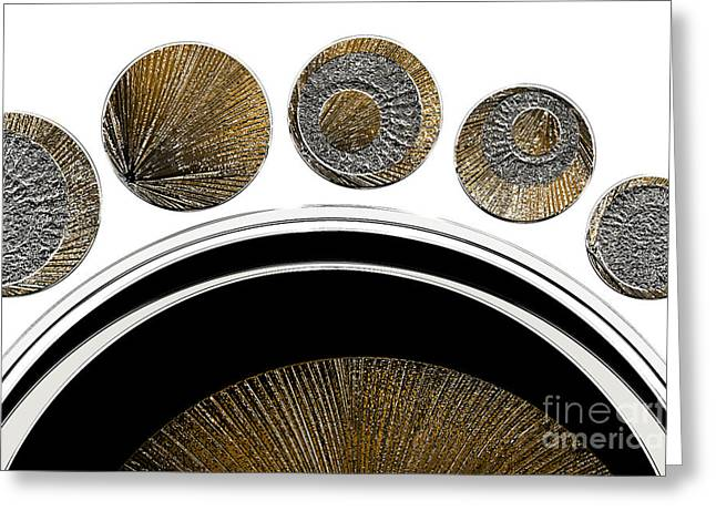 Textured Abstract 2 - Unexplained Greeting Card by Natalie Kinnear