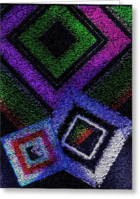 Transparency Geometric Greeting Cards - Textured fusion on colorful  Greeting Card by Mario  Perez