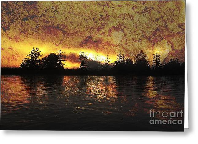 Textured Sunrise Greeting Card by Erica Hanel