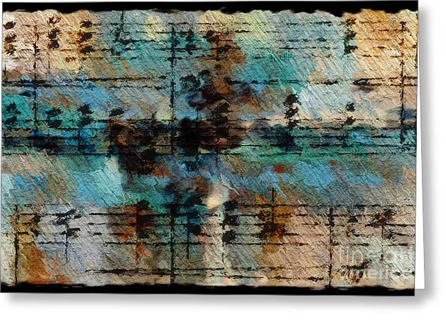 Greeting Card featuring the digital art Textured Turquoise by Lon Chaffin
