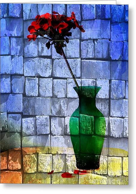 Textures Greeting Card by Donald Davis