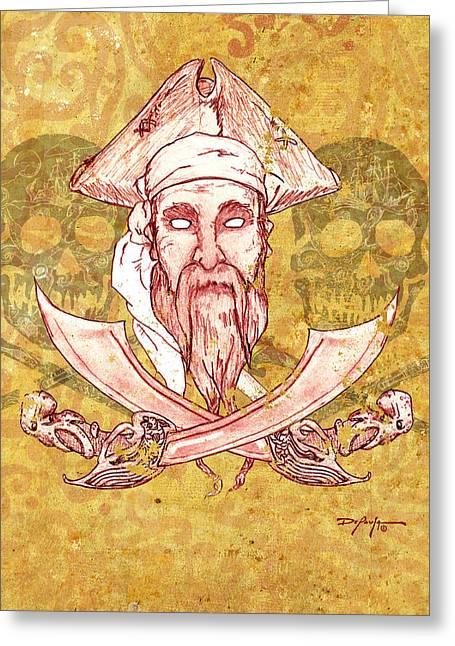 Teye Ba Pirate  Greeting Card by William Depaula