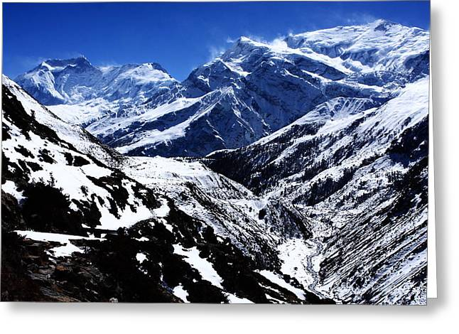 The Annapurna Circuit - The Himalayas Greeting Card