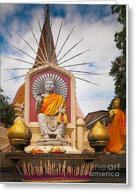 Thai Buddha Greeting Card