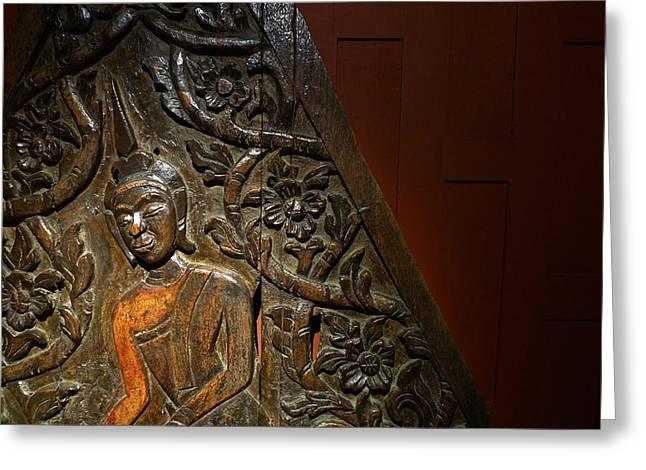 Thai Wood Panel Greeting Card