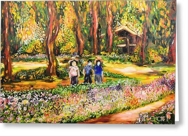 Thai Flower Garden Greeting Card