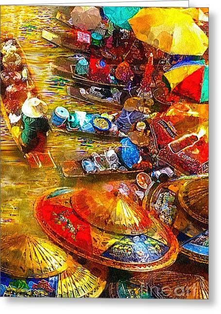 Thai Market Day Greeting Card