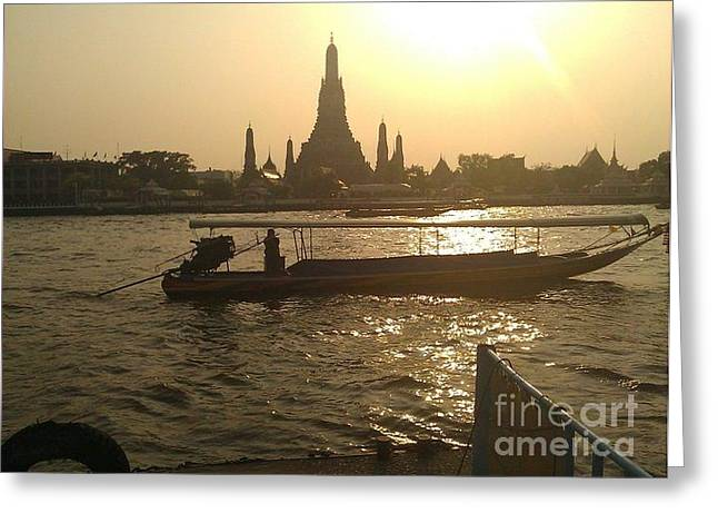Thai Sunset Greeting Card by Ted Williams