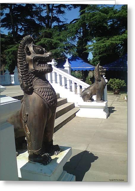 Thai Temple Steps Greeting Card