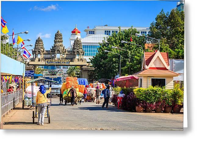 Thailand-cambodia Border Greeting Card