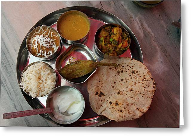 Thali For Lunch, Fatehpur Sikri, Uttar Greeting Card