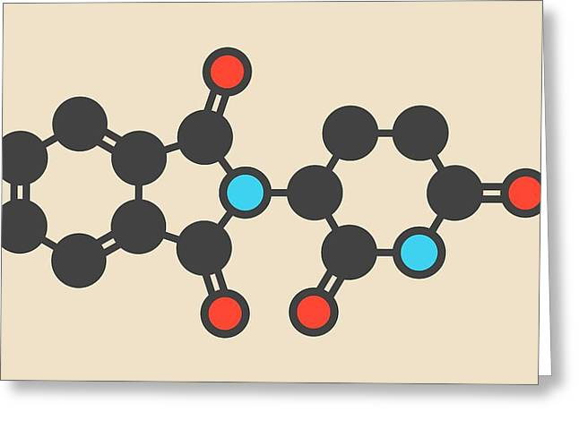 Thalidomide Teratogenic Drug Molecule Greeting Card by Molekuul