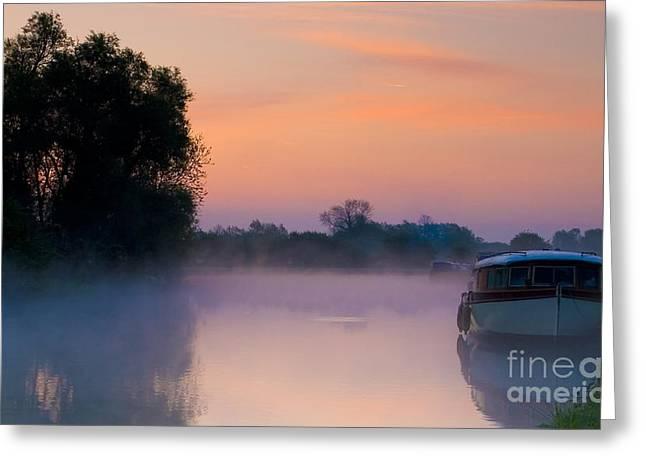 River Thames At Dawn  Greeting Card
