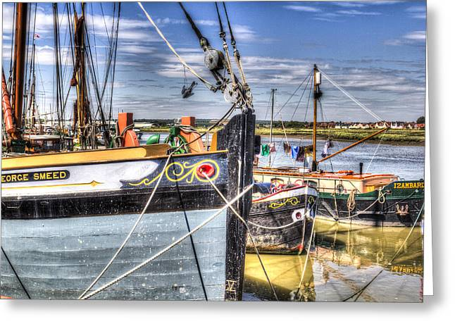 Thames Sailing Barges  Greeting Card