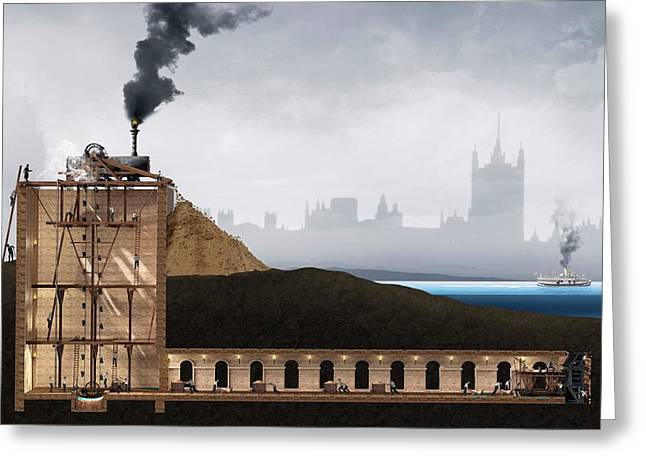 Thames Tunnel Construction Greeting Card by Claus Lunau/science Photo Library