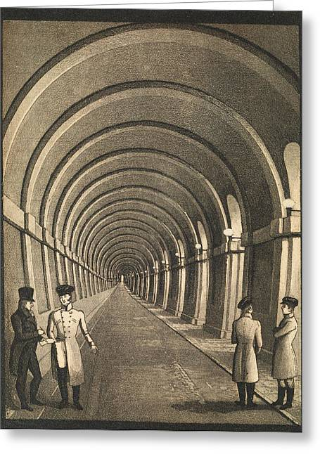 Thames Tunnel Greeting Card by Middle Temple Library