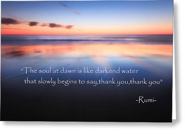 Thank You Greeting Card by Bill Wakeley