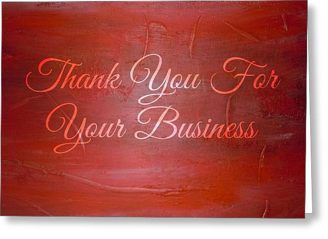 Crystal lauren cornell greeting cards greeting card featuring the painting thank you business card by crystal lauren cornell colourmoves