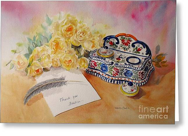 Thank You From Beatrice Greeting Card by Beatrice Cloake