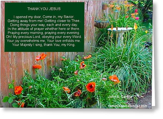 Thank You Jesus Greeting Card