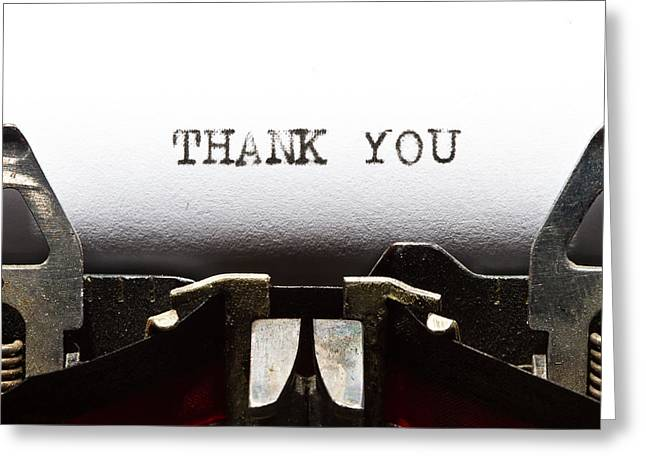 Thank You Greeting Card by Juan R Velasco