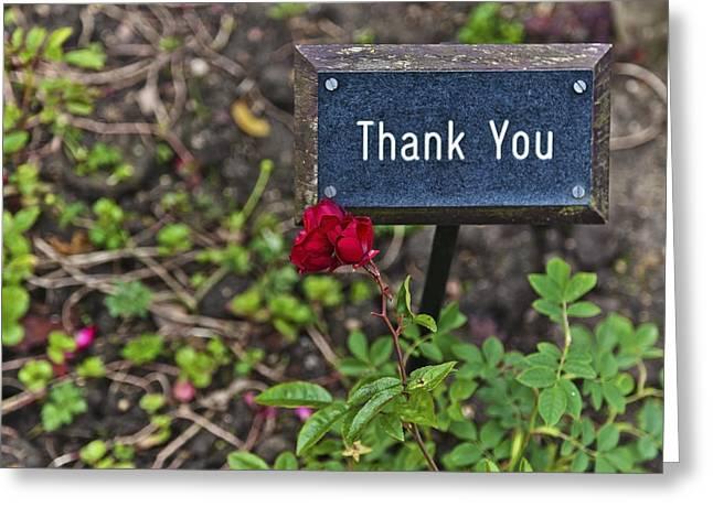Thank You Greeting Card by Maj Seda