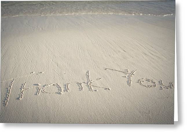 Thank You Greeting Card by Mesha Zelkovich
