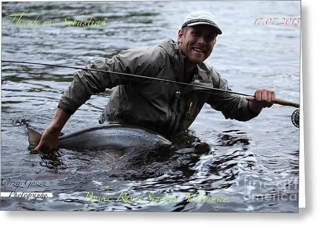 Thank You So Much Sebastian. Byske River. Sweden. Greeting Card by  Andrzej Goszcz