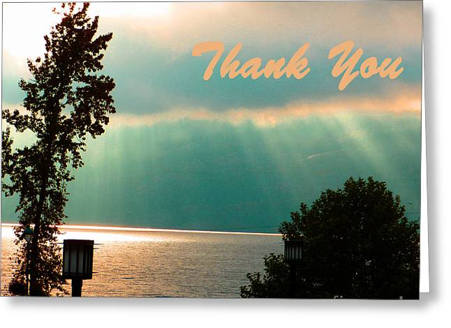 Thank You  Greeting Card by Vi Brown