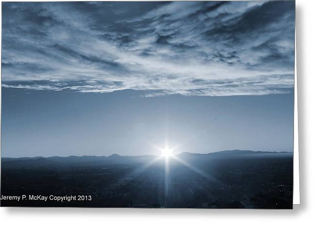 Greeting Card featuring the photograph Thanksgiving Sunrise Mount Soledad  by Jeremy McKay