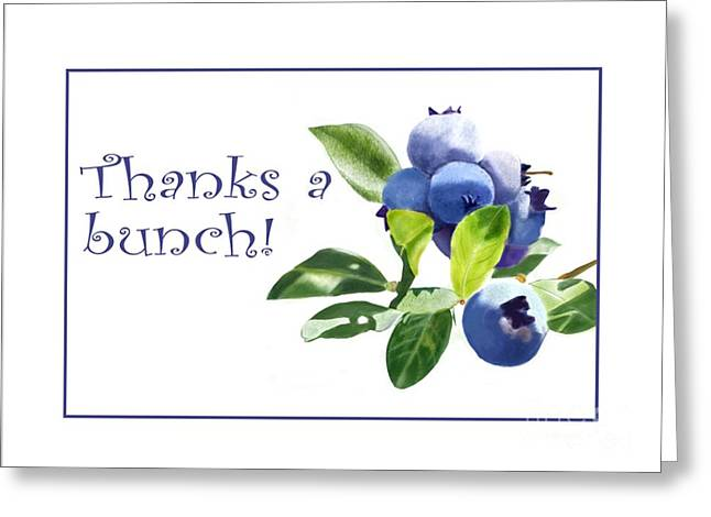 Thanks A Bunch Note Card Greeting Card