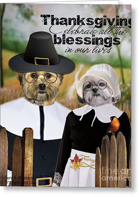Thanksgiving From The Dogs Greeting Card