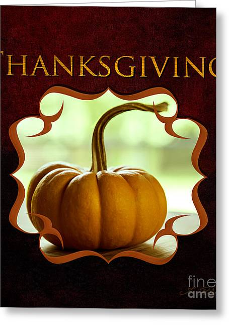 Thanksgiving Gallery Greeting Card by Iris Richardson