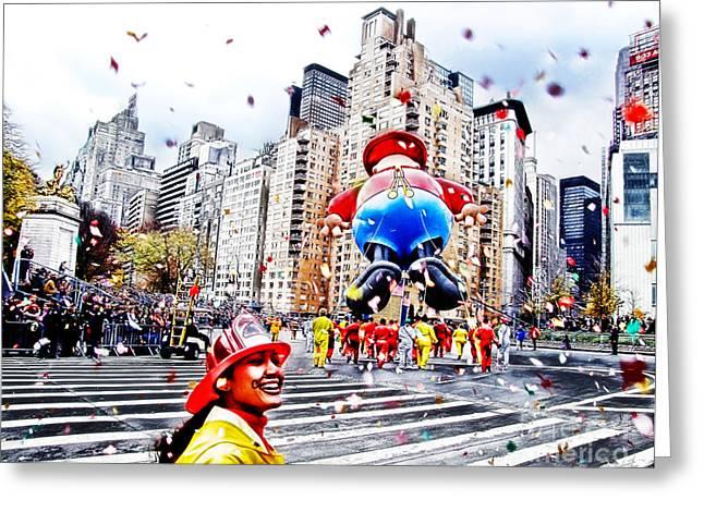 Thanksgiving Parade Greeting Card by Nishanth Gopinathan