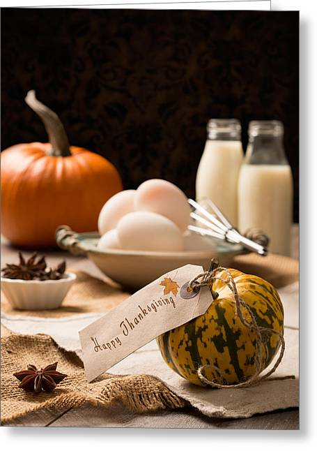 Thanksgiving Table Greeting Card by Amanda Elwell