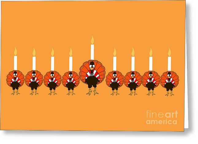 Thanksgivukkah Turkey Menorah Greeting Card