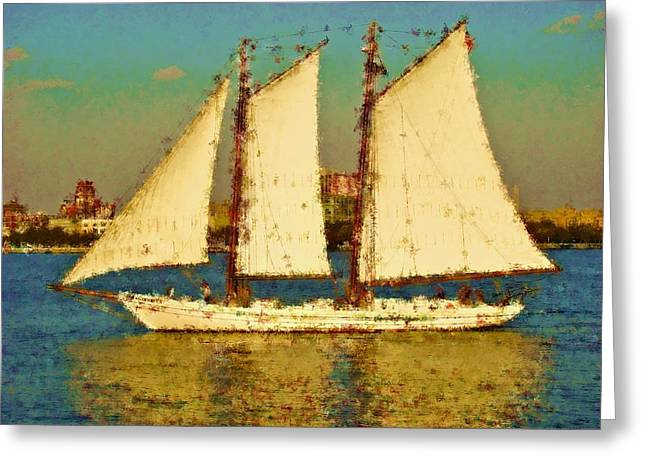 That Ship Greeting Card by Alice Gipson
