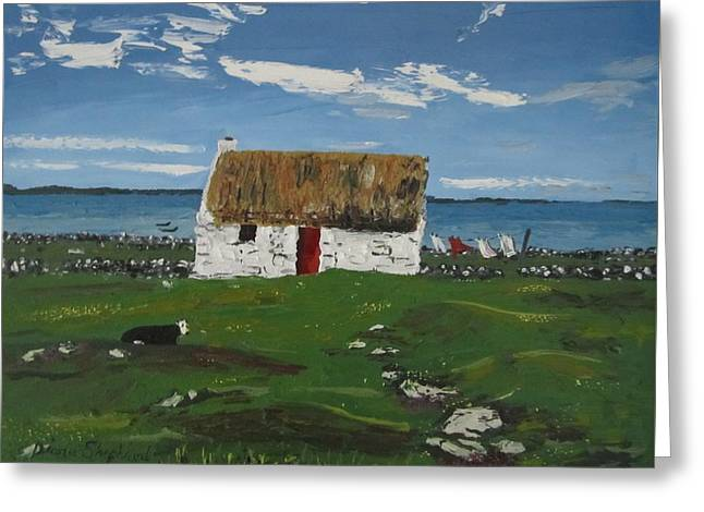 Thatch Cottage Ballyconneelly Connemara Ireland Greeting Card