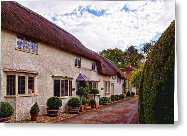 Greeting Card featuring the photograph Thatched Cottage -2 by Paul Gulliver