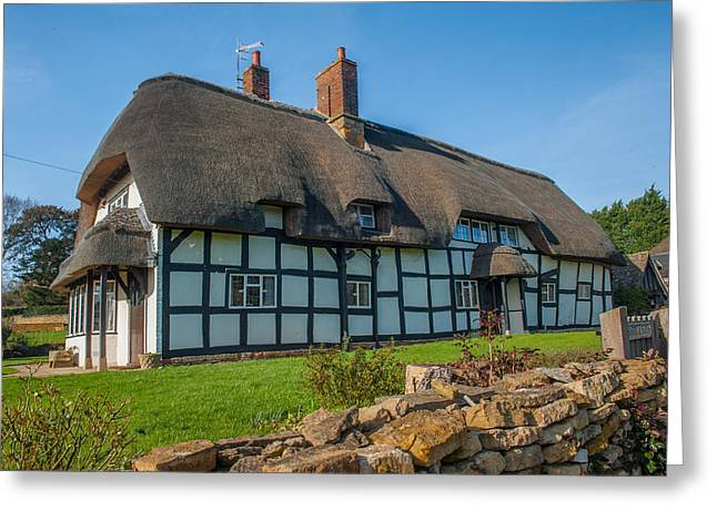 Thatched Cottage Ashton Under Hill Worcestershire Greeting Card by David Ross