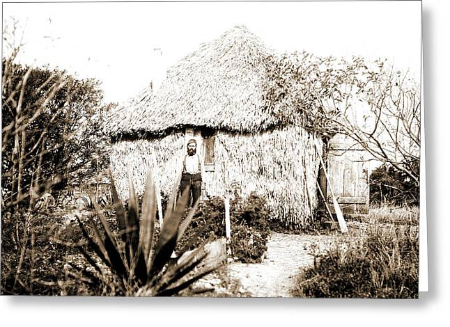 Thatched Cottage At Barkers, Jackson, William Henry Greeting Card by Litz Collection