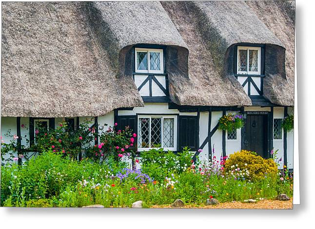 Thatched Cottage Hemingford Abbots Cambridgeshire Greeting Card