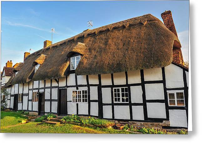 Thatched Cottage Welford On Avon Greeting Card by David Ross