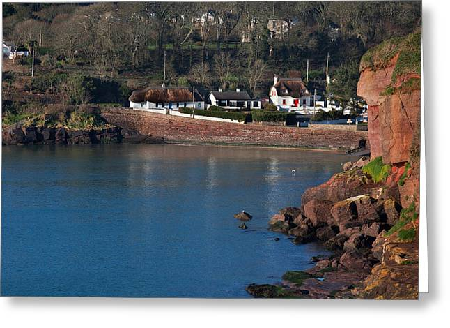 Thatched Cottages, Dunmore Strand Greeting Card
