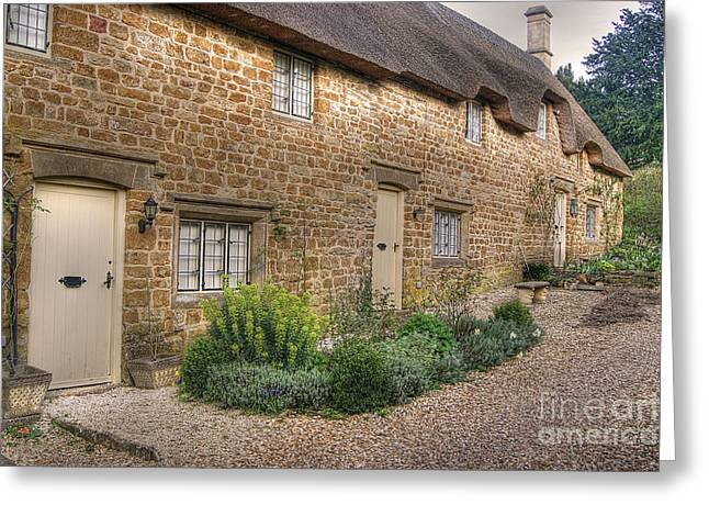 Thatched Cottages In Oxfordshire Greeting Card