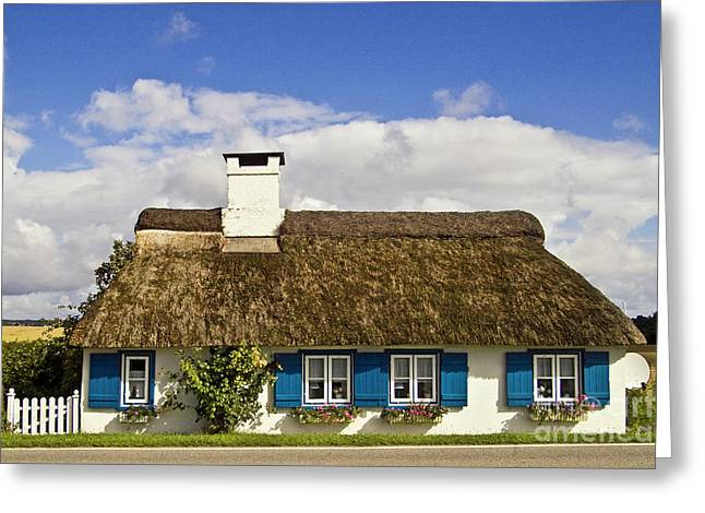 Thatched Country House Greeting Card by Heiko Koehrer-Wagner