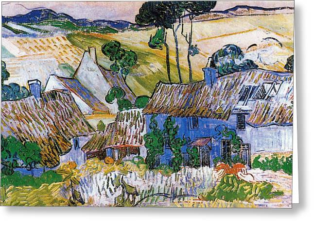 Thatched Houses  Greeting Card