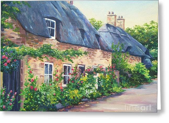 Thatched Roofs Greeting Card by John Clark